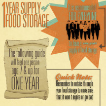 1 year food storage Infographic