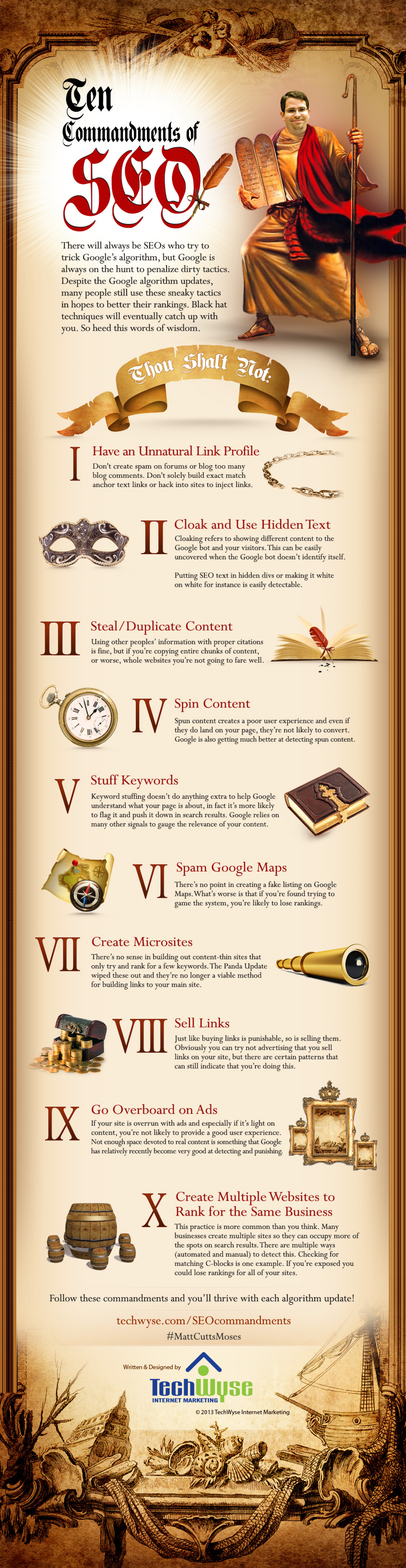 10 Commandments of SEO Infographic