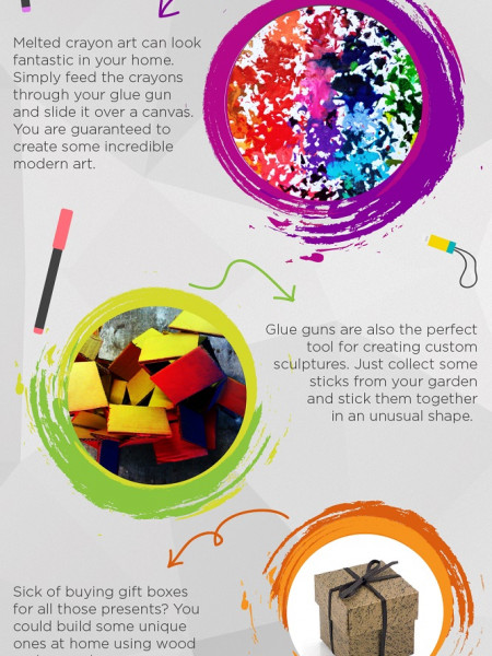 10 Cool Uses for a Glue Gun Infographic