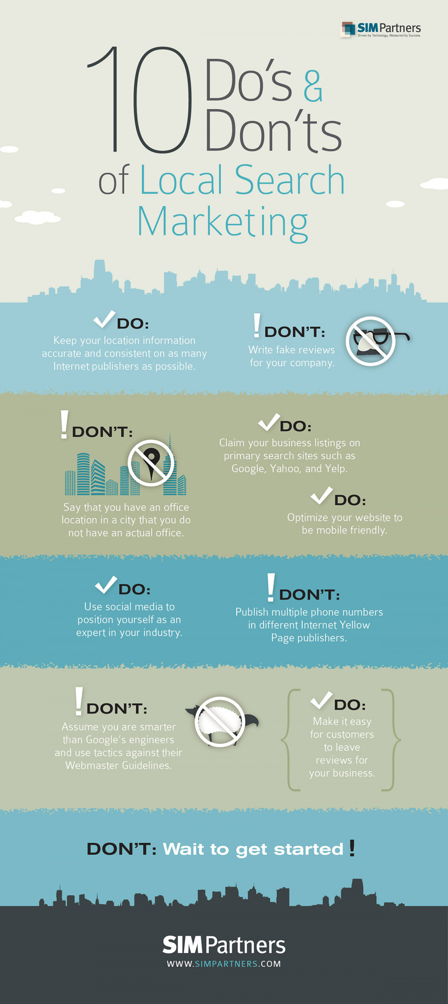 10 Do's and Don'ts of Local Search Marketing Infographic