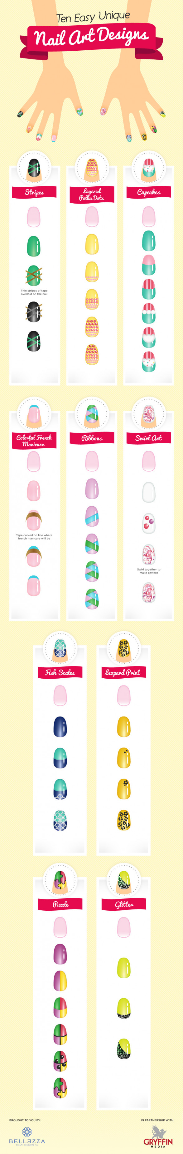 10 Easy & Unique Nail Art Designs
