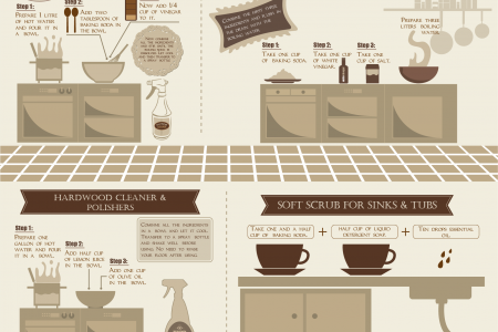 10 Easy Recipes for Household Cleaners Infographic