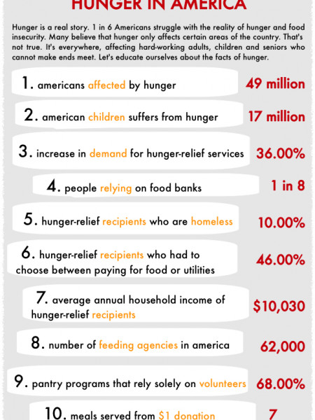 10 Facts About Hunger in America Infographic