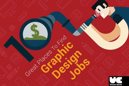 10 Great Places to Find Graphic Design Jobs Infographic