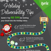 10 Holiday Email Deliverability Tips Infographic