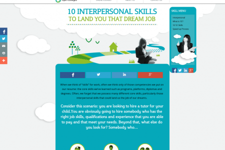 10 Interpersonal Skills to Land you that Dream Job Infographic