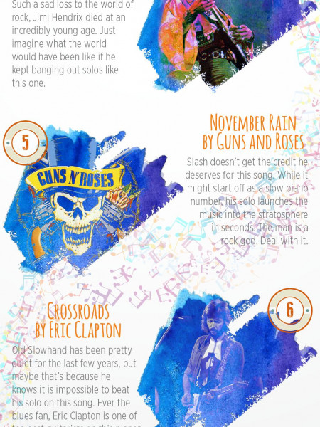 10  Most Iconic Guitar Solos of all Time Infographic