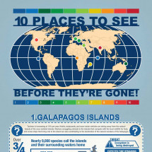 10 Places to See Before Theyre Gone Infographic