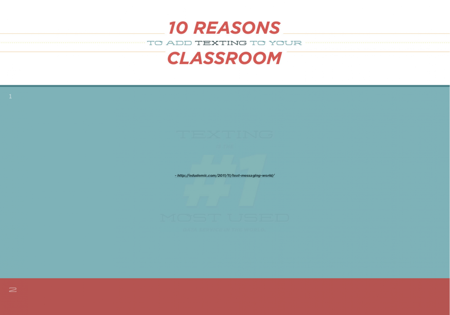10 Reasons to add texting to your classroom Infographic