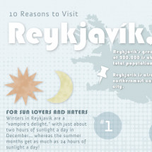 10 Reasons to Visit Reykjavik Infographic
