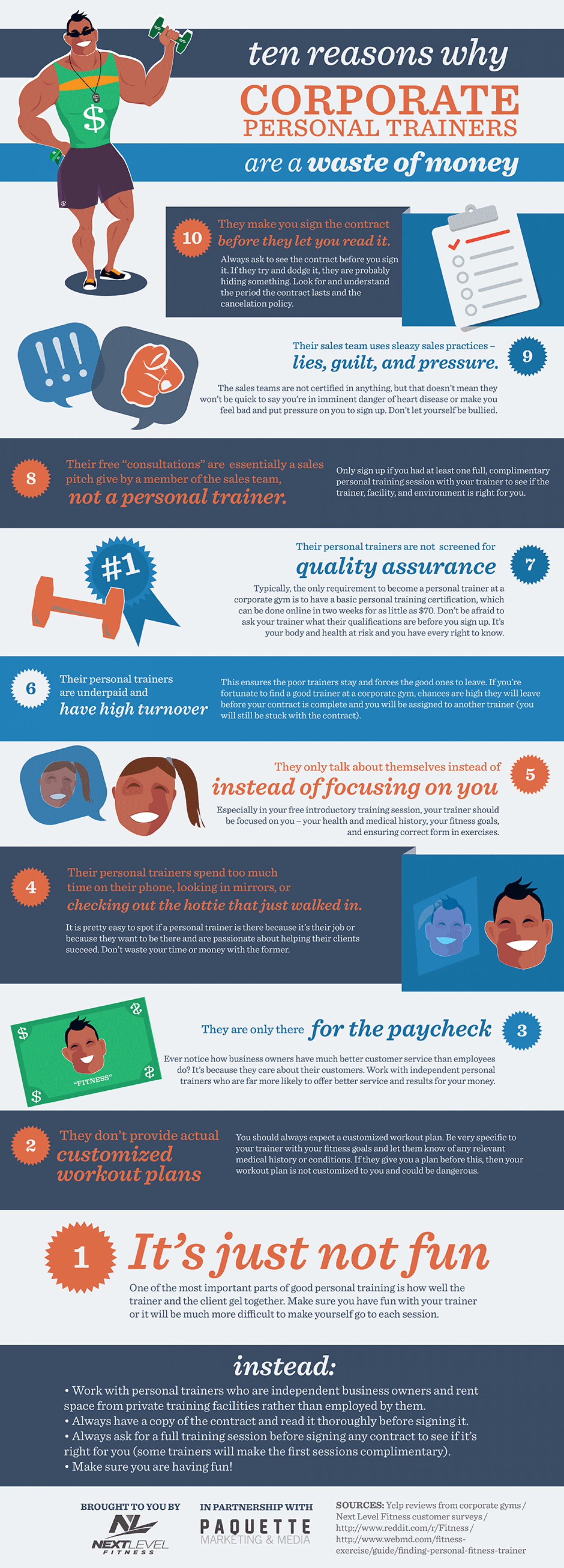 10 Reasons Why Corporate Personal Trainers are a Waste of Money Infographic