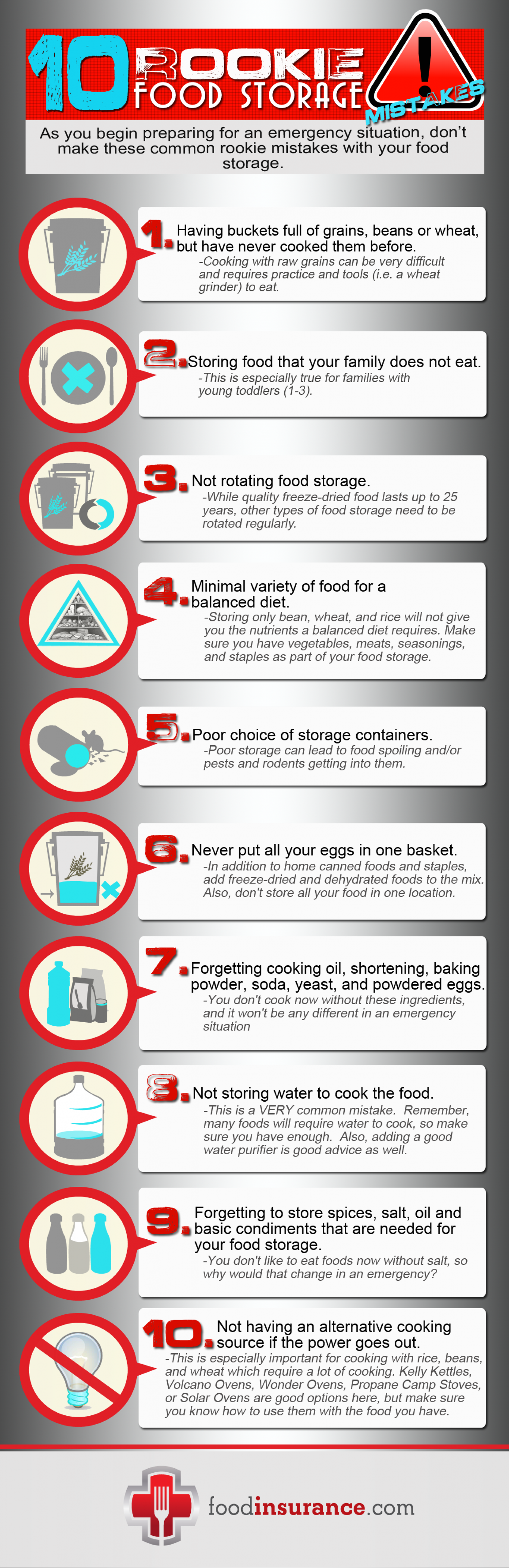 10 Rookie Food Storage Mistakes Infographic Infographic