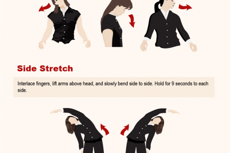 10 Simple Stretches To Do At Your Desk Infographic