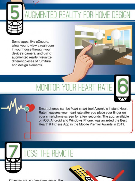 10 Smartest things you can do with a Smartphone Infographic