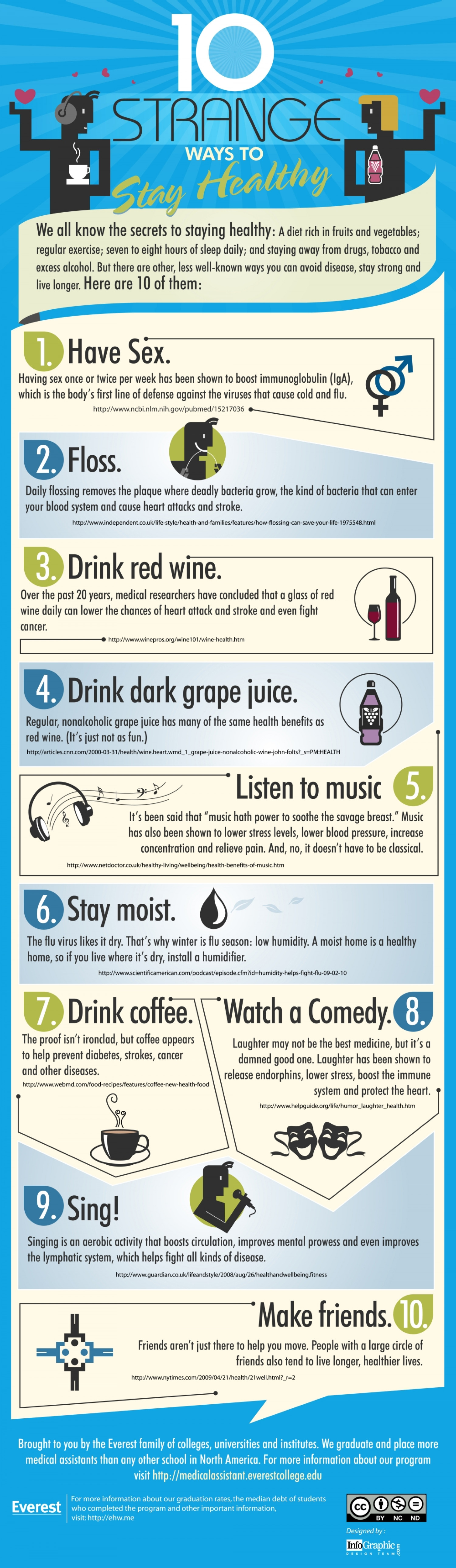 10 Strange Ways To  Stay Healthy Infographic