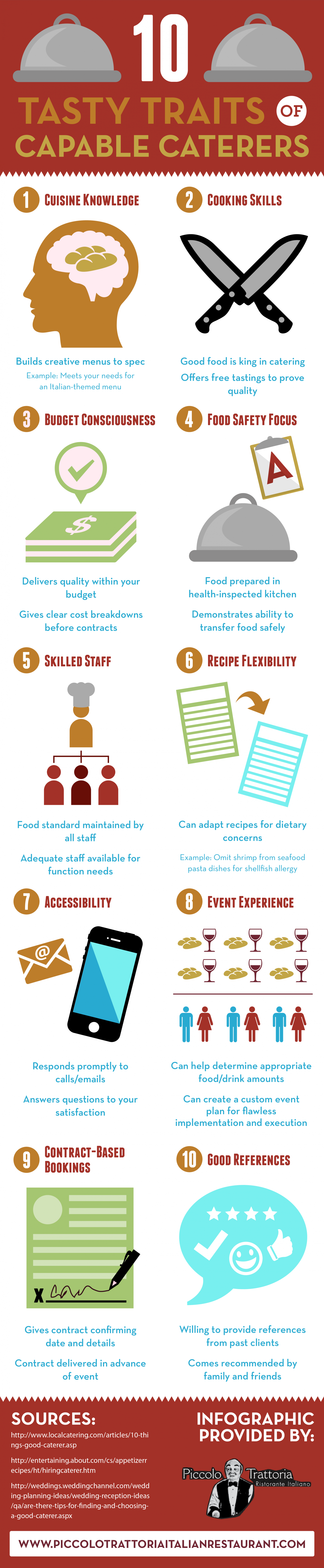 10 Tasty Traits of Capable Caterers Infographic