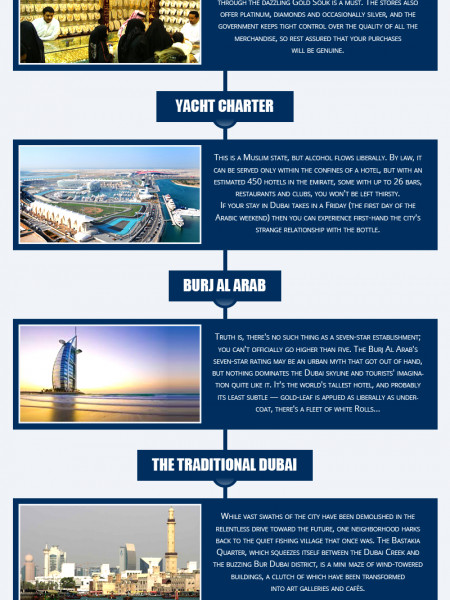 10 Things not to miss in Dubai Infographic