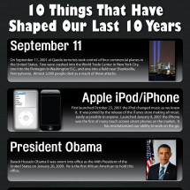 10 Things That Have Shaped Our Last 10 Years Infographic
