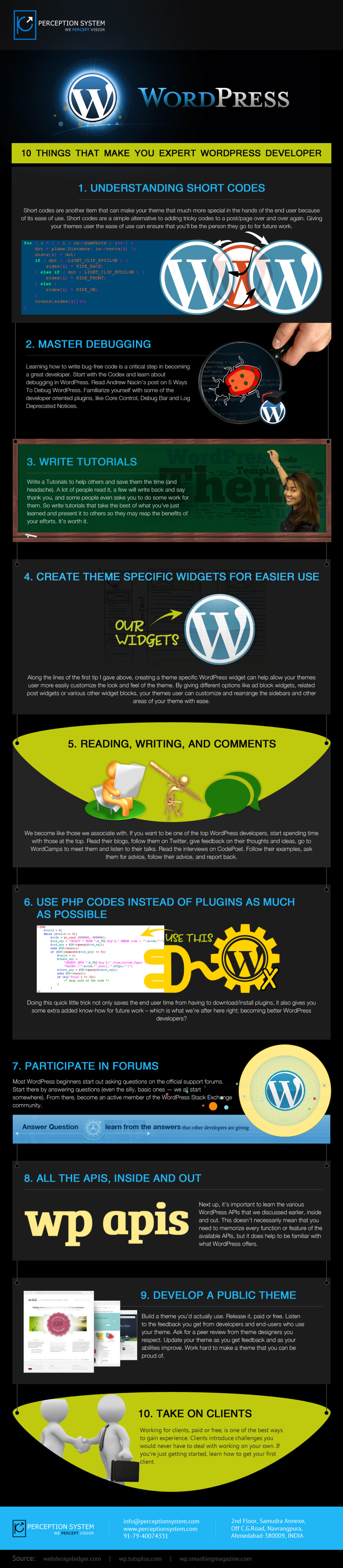 10 Things that Make You Expert WordPress Developer Infographic