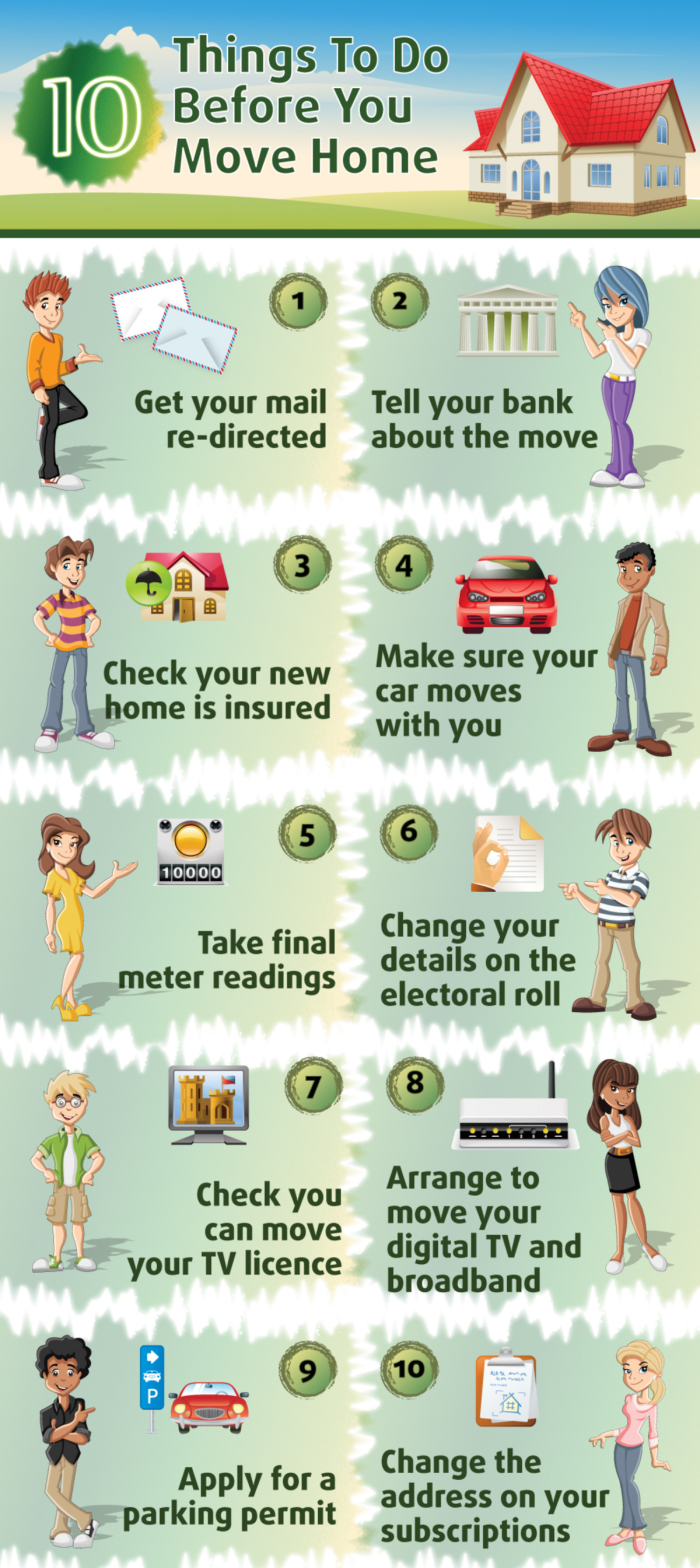 10 Things To Do Before You Move Home Infographic