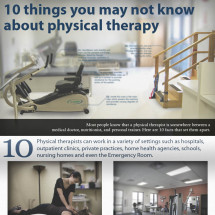 10 Things You Might Not Know About Physical Therapy Infographic