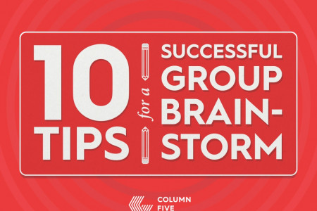 10 Tips For a Successful Group Brainstorm Infographic