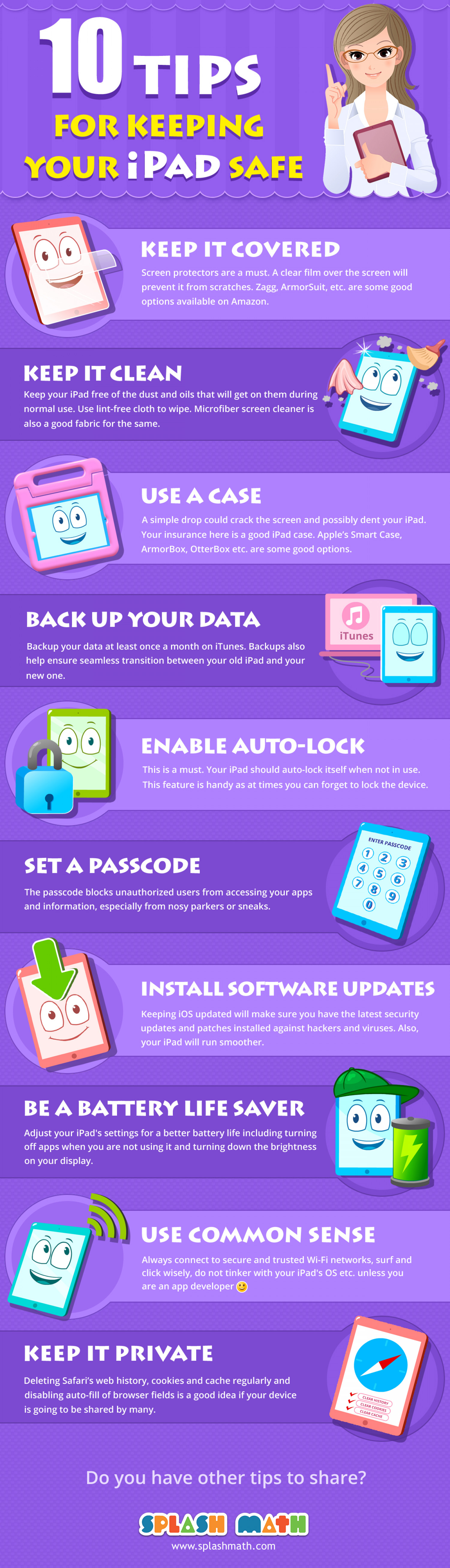 10 Tips For Keeping Your iPad Safe Infographic