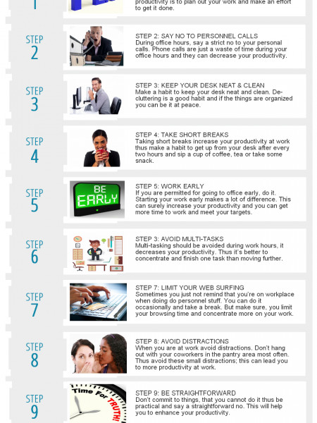 10 Tips to Increase Your Productivity Infographic