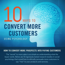 10 Ways to Convert More Customers (with Psychology) Infographic