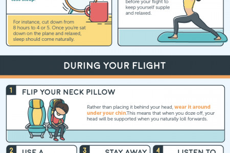 10 Ways to Fall Asleep on a Plane Infographic