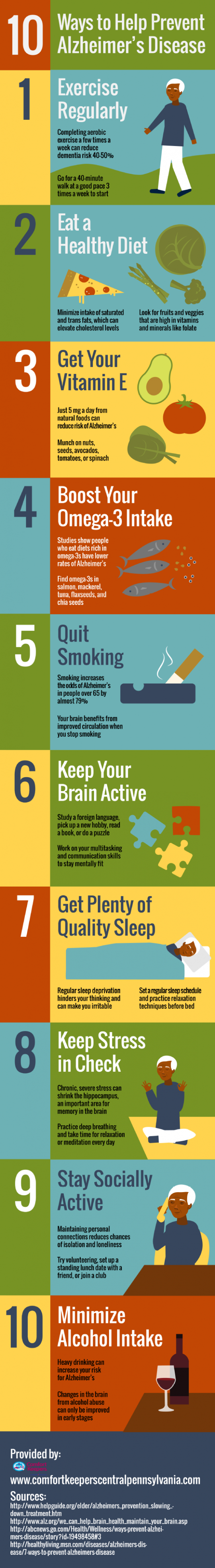 10 Ways to Help Prevent Alzheimer�s Disease