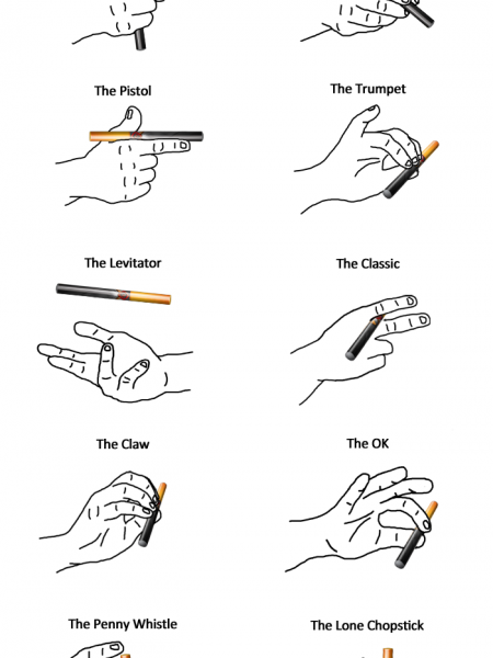 How To Grip Your E-Cig Like a Boss Infographic