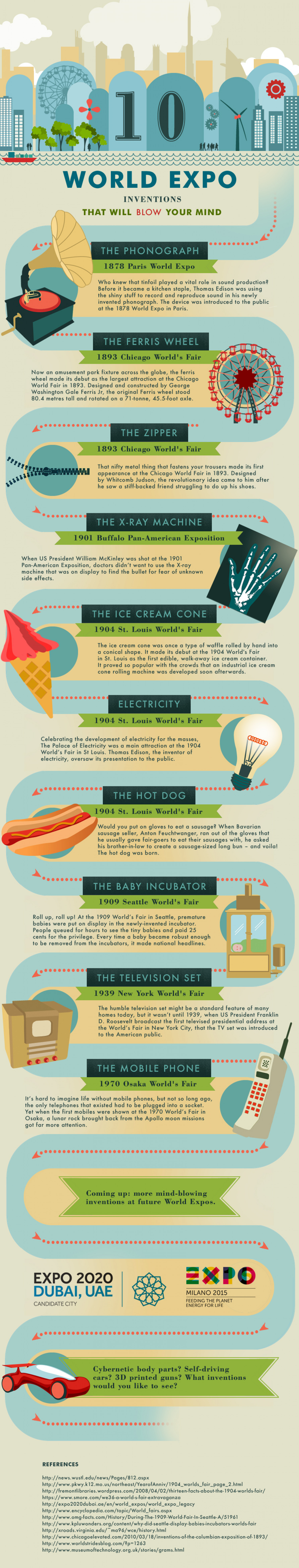 10 World Expo Inventions That Will Blow Your Mind Infographic
