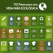 100 Pasos para una vida ms ecolgica Infographic