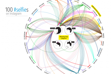 100 #selfies on Instagram Infographic