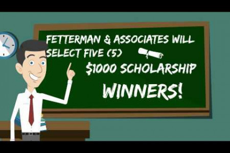 $1000 Scholarship Project from Fetterman & Associates Infographic