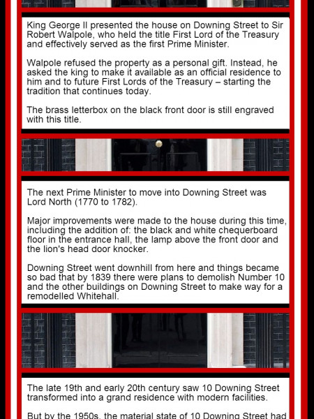 10 Downing Street Fact File Infographic