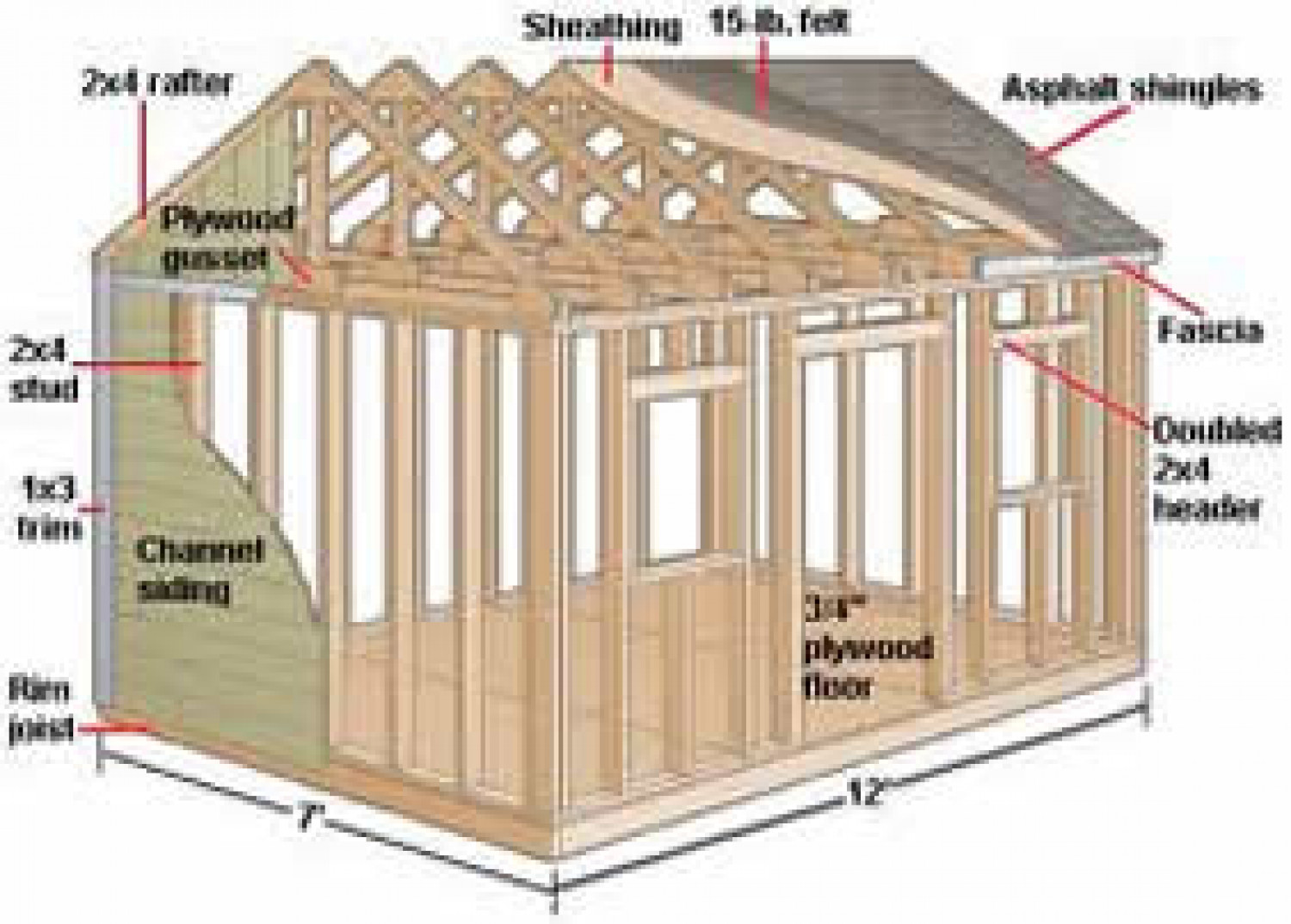 10x12 Storage Shed Plans