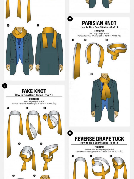 11 Simple Ways to Tie a Scarf  Infographic