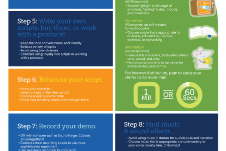 11 Steps to Voice-Over Success Infographic