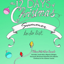 12 Days of Christmas - Summer Infographic