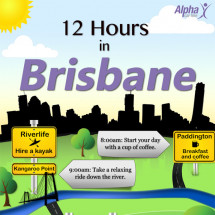 12 Hours in Brisbane Infographic