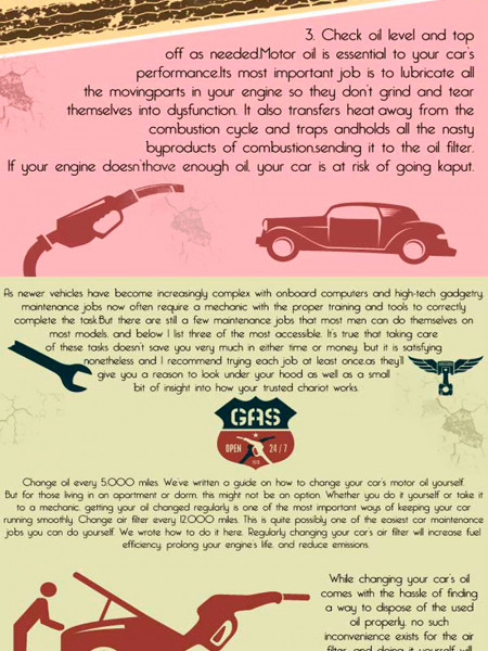 12 months of TLC for your car Infographic