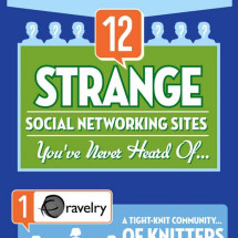 12 Strange Social Networking Sites You've Never Heard Of Infographic