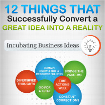 12 Things that Successfully Convert a Great Idea into a Reality (Infographic) Infographic