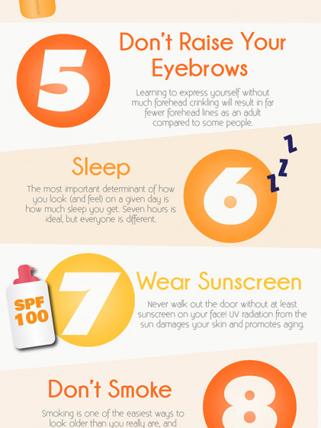 12 Things to do When you are Younger to Prevent Skin Problems When you are Older Infographic