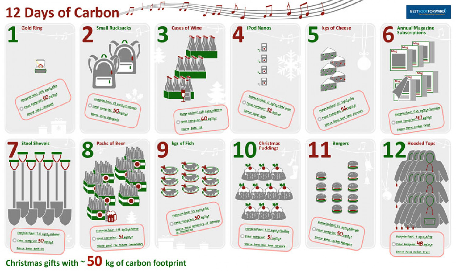 12 Days of Carbon Infographic