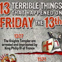 13 Terrible Things That Have Happened on Friday The 13th Infographic