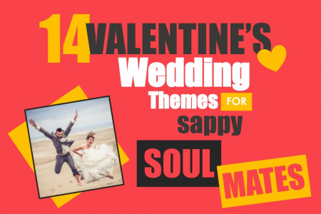 14 Crazy Valentine's Day Wedding Themes For Sappy Soul Mates! Infographic