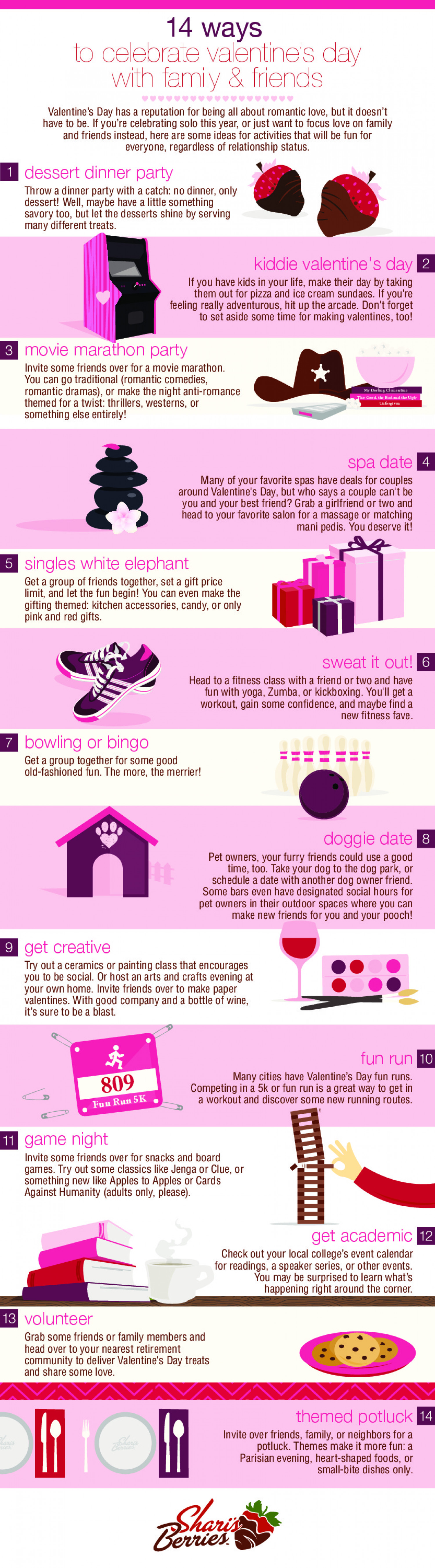 14 Ways to Celebrate Valentine's Day with Friends and Family Infographic